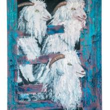 3 Goats, oil on canvas, 90*70cm